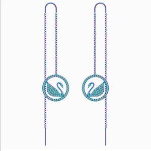 Swarovski Pop Swan Purple & Lilac Pierced Earrings
